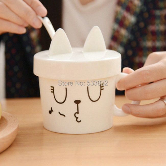 Wholesale ceramic mug cute animal style breakfast cup(China (Mainland))