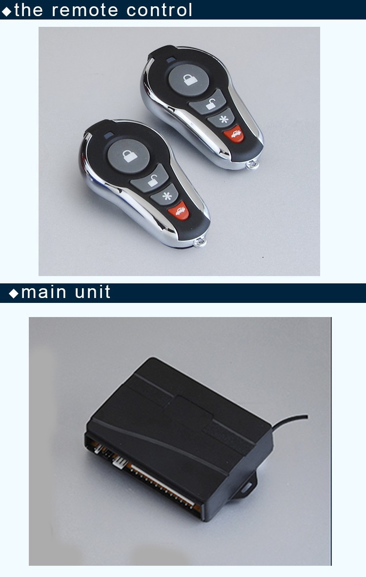 Top Selling 433.9 MHz One Way Car Alarm Systems With Keyless Remote Lock Or Unlock Made in Guangdong China