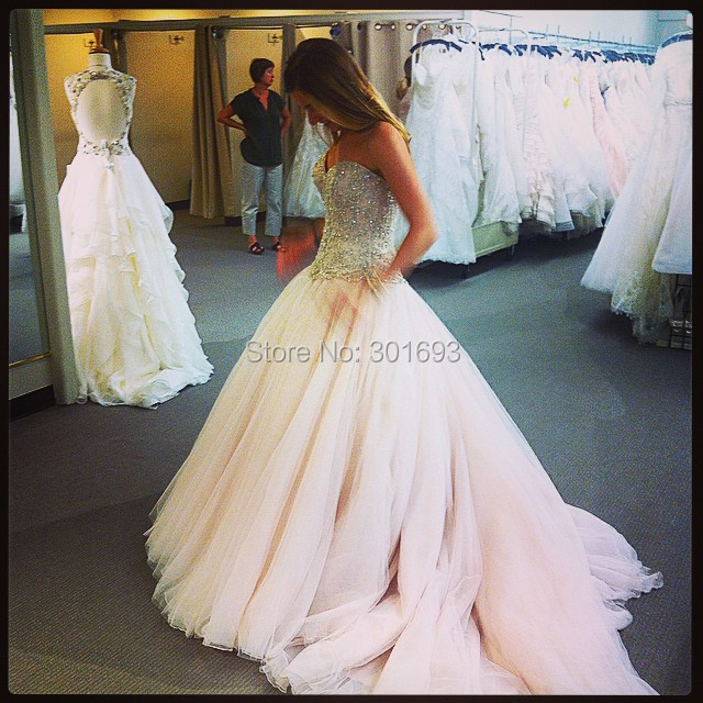 Ow115 sweetheart heavy beaded magice tulle skirt princess for Heavy beaded wedding dresses