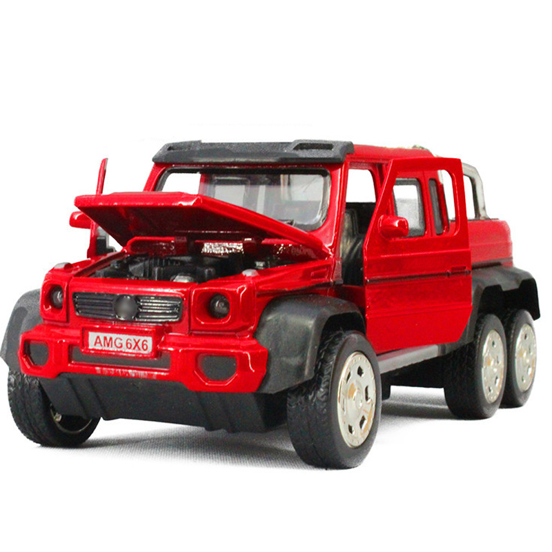 1:32 Pull Back sound and light alloy AMG G63 6X6 truck model toys children toy car birthday gift(China (Mainland))