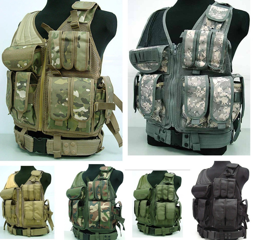 Airsoft Tactical Hunting Combat Vest Black CP TAN ACU  GREEN WL<br><br>Aliexpress