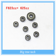 Mini Kossel Bearings Kit – (6) F623ZZ bearing with 625ZZ bearing for the liner ball bearing – DIY 3D Printer Parts