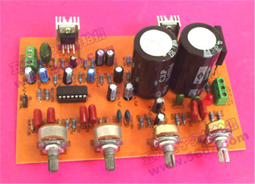 Diy Kit TDA2030 with front stage power amplifier board electronic production kit Electronic suite(China (Mainland))