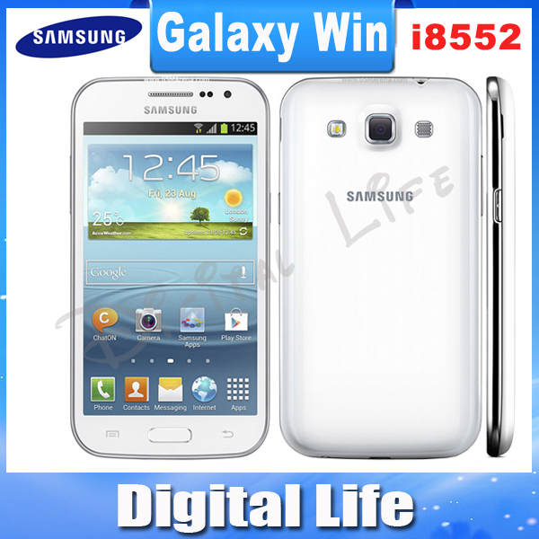 I8552 Unlocked Original Samsung Galaxy Win i8552 GPS WIFI Dual SIMQuad core 3G Android Mobile Phone Refurbished(China (Mainland))