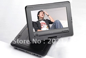 Portable DVD Player with 7 Inch LCD, 270 Rotating, TV, Game, AV-in_out Christmas gift