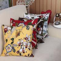 New Beautiful Flower & Bird Pattern Cushion Pillow Cover Home Decoration 45X45CM