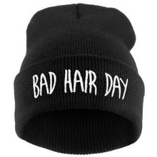 Hat Sport Winter Bad Hair Day Beanie Cap Men Hat Beanie Knitted Hiphop Winter Hats For
