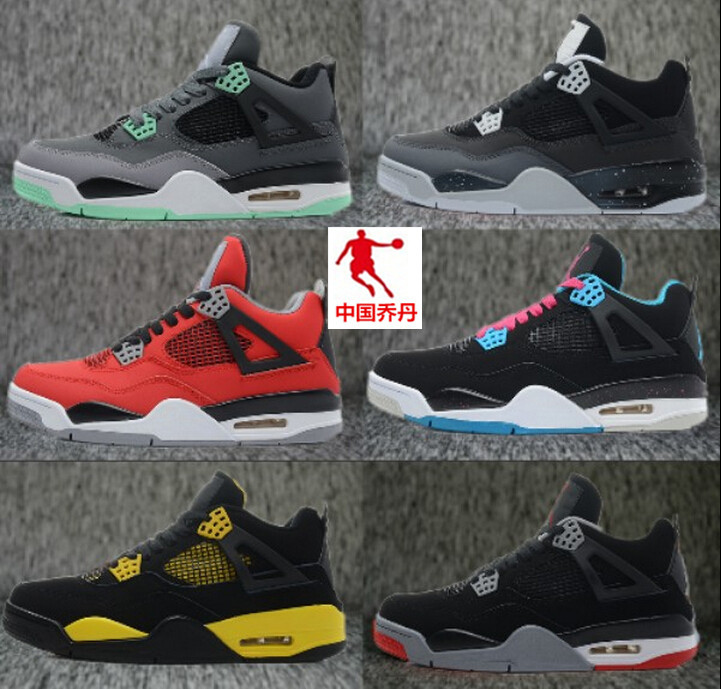 2015 New China Jordans 4 Men and Women Basketball Shoes retro 4 shoes sports shoes Allow frees shipping(China (Mainland))