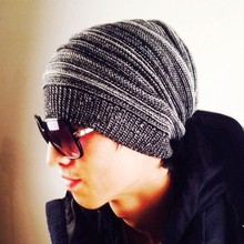 Best Price Cool Men Hop Hip-hop Hat Melaleuca Double Room Color Cap Knitting Wool Folds Hat TQ