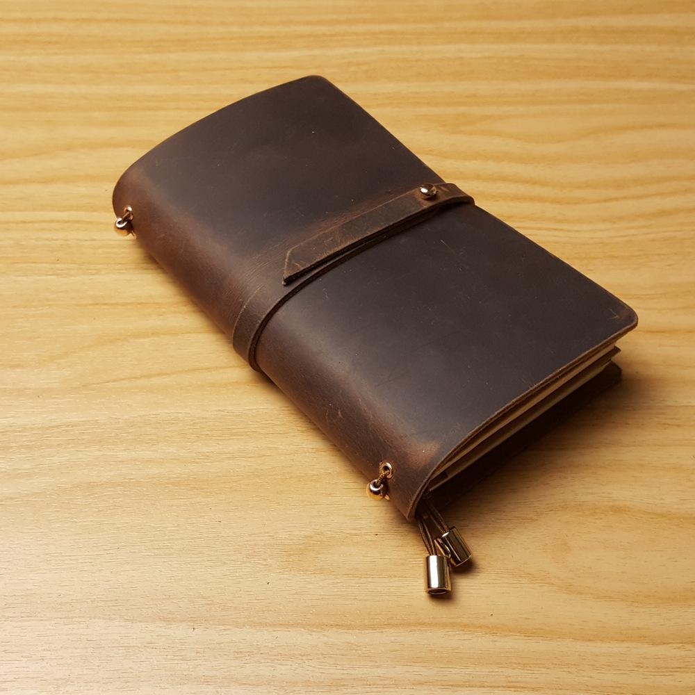 18*10.5CM New handmade notebook genuine leather travel case journal notebook style school supplies vintage notebooks(China (Mainland))