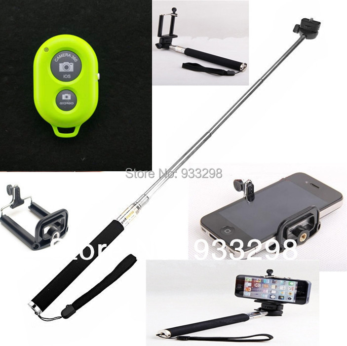 3in1 monopod+clip+Bluetooth Remote Camera Control Self-timer Shutter for iPhone 5S 5C 5 4S for Galaxy S4 Note3 S3 S5 and Tablet(China (Mainland))