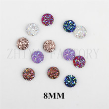 Buy MIX COLOR 8mm popular Multicolor 50pcs AB Flatback Resin Round Stone beads flatback Resin Rhinestone DIY Wedding Decora for $1.88 in AliExpress store