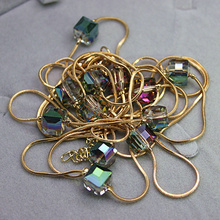 Europe Fashion Crystal Jewelry Accessories Austrian Crystal Bead Long Necklace Sweater Chain Necklaces Pendants For Women