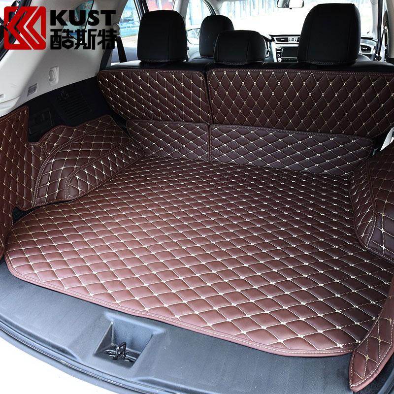 KUST Leather Material Car Trunk Floor Carpet For Nissan For Murano 2015 Car Trunk Floor Mat For Murano 2016 Exterior Accessaries