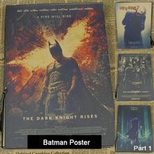 Buy Batman movie The Dark Knight Joker Poster Vintage Retro Matte Kraft Paper Poster Wall Sticker part 1 for $1.50 in AliExpress store