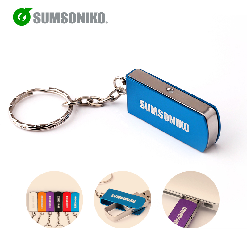 SUMSONIKO USB Flash Drive High Speed USB 2.0 Flash Memory Stick Rotation 6 Colors Pen Drive 64GB 32GB 16GB 8GB 4GB 2GB Can Track(China (Mainland))