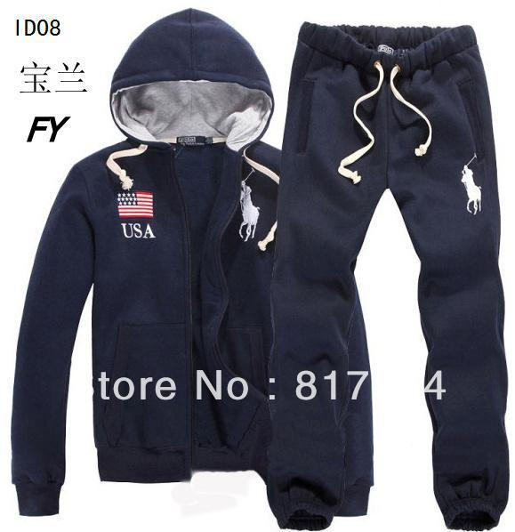 Free Shipping  Polo Men's Sport Suits Tracksuits Hoodies Fashion  sweatshirts for mens Coats Jacket Pants