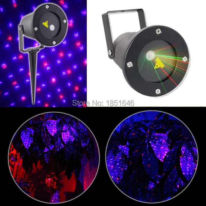 Red blue star starry garden party home Laser Light Xmas Lighting Projector Show Outside Landscape Tree light for Outdoor(China (Mainland))