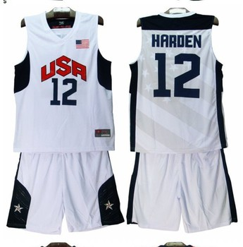 Free shipping Cheap Price  American James National Team Jersey Dream 10 USA Basketball Uniforms Wholesale custom number