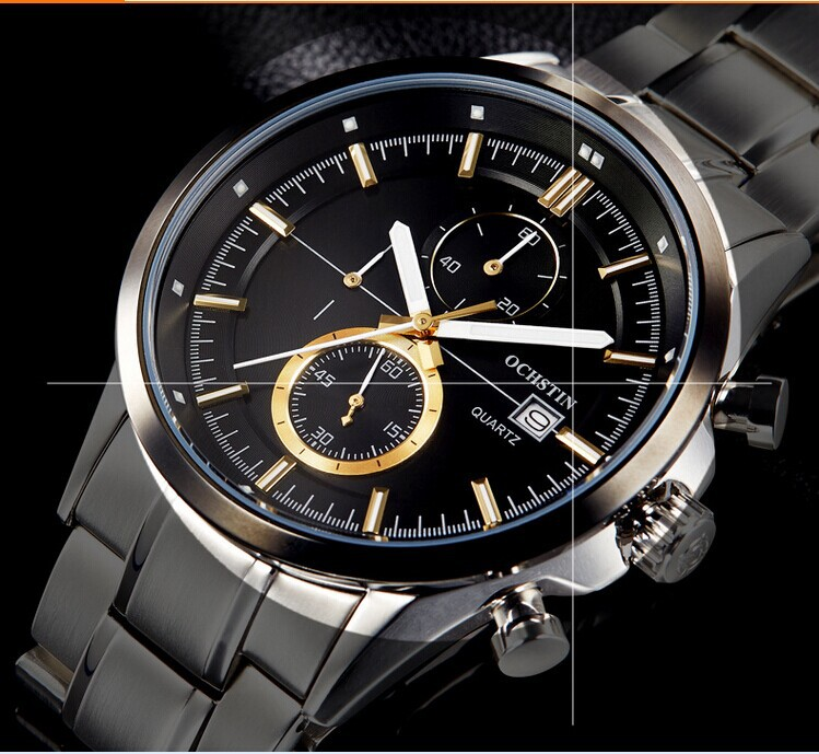 European Style Men Big Size Stainless Steel Dress Watches