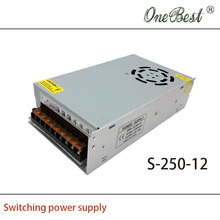 12V 20A 250W Switching power supply S-250-12 Adjustable power supply for 3D printer Z605/Z605S power supply Free shipping