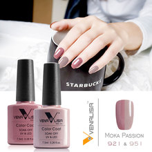 #61508 VENALISA New Brand 100% Nail Gel Polish 2 Piece One Lot UV 60 Colors Camouflage Nude Color Series - canni-v2 Store store
