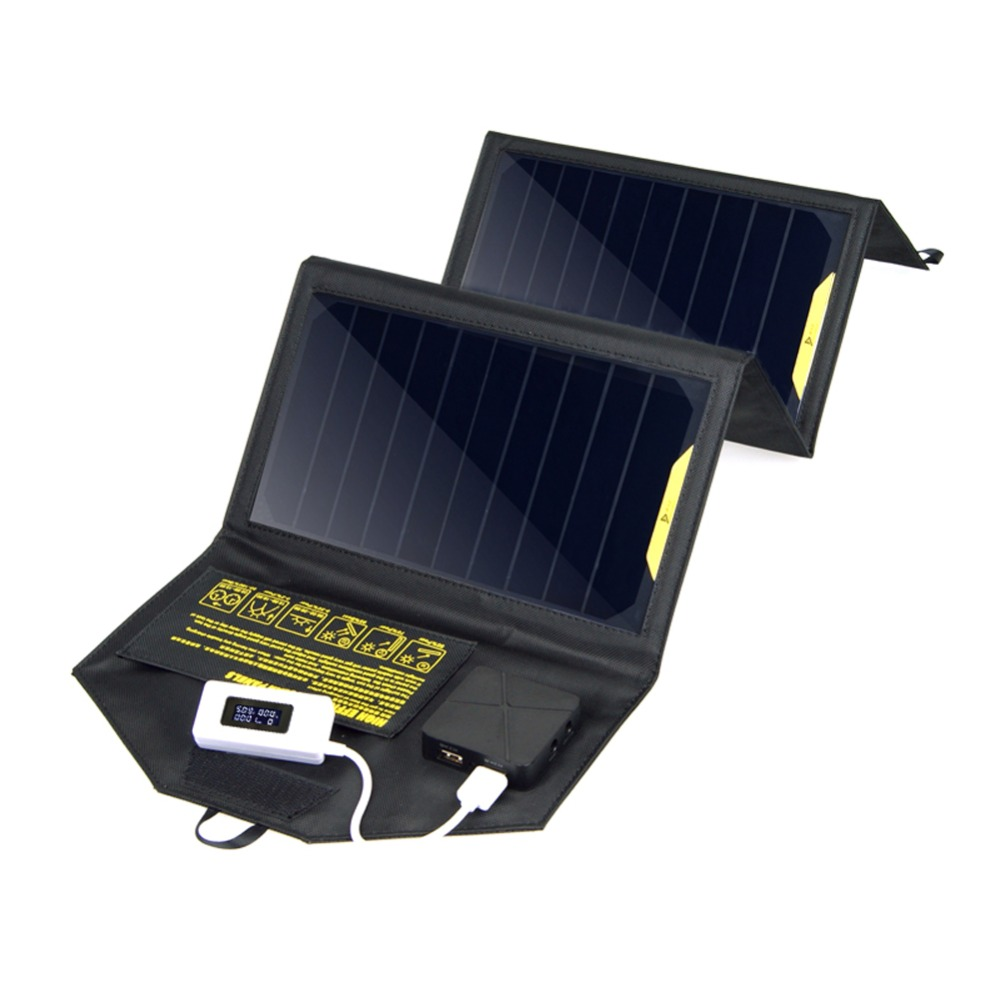 Outdoor 5v 20w Dual Usb Foldable Solar Panel Power Bank