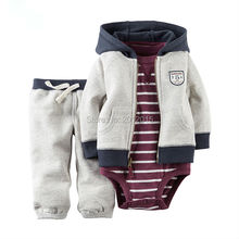 new arrival baby boy clothing set full sleeve hoodies boys autumn sets 3 pcs baby suits retail