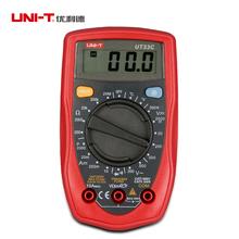 Ручной UNI-T UT33C цифровой мультиметр авто диапазон может проверить AC / DC транзистор жк-дисплей мини палм-размер