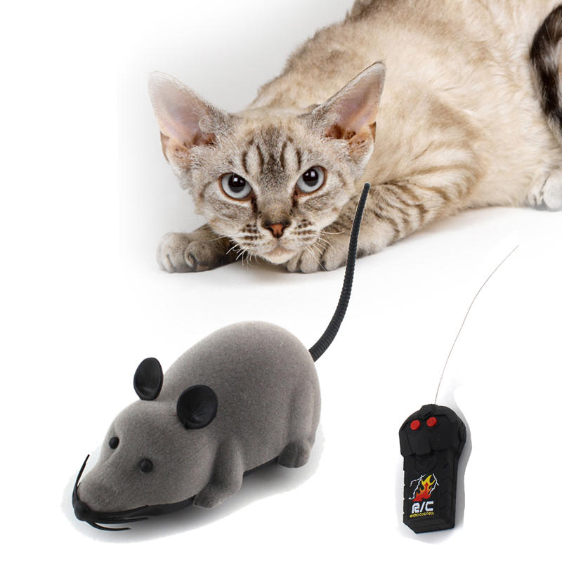 3 Colors Remote Control Wireless Simulation Plush Mouse RC Electronic Rat Mouse Mice Toy For Pet Cat Toys Mouse(China (Mainland))