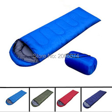 Spring Summer outdoor camping envelope style hooded thin hollow cotton sleeping bag multicolor Ultra-light Free china post(China (Mainland))