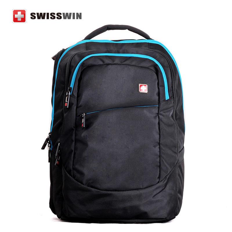 Swiss Brand Business Travel Waterproof Laptop Backpack 17.3  High Quality Outdoor Leisure Sports Bag Escolar Mochila SWD0005 <br><br>Aliexpress