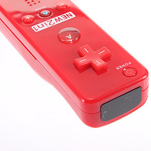 2 in 1 RED Nude Packed Built in Motion Plus Remote Controller and Nunchuk Silicone Case