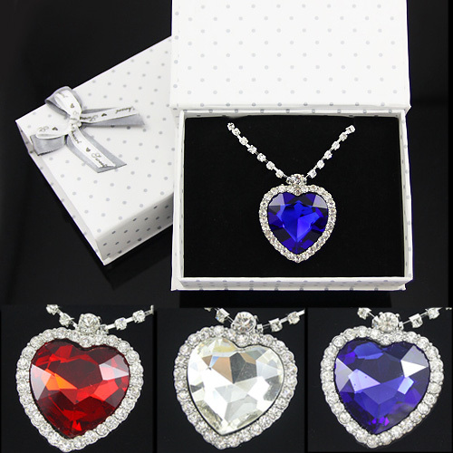 Best birthday gift for women girlfriend! Titanic heart of the ocean long pendant necklace for women mother day jewellery gfs-a01(China (Mainland))
