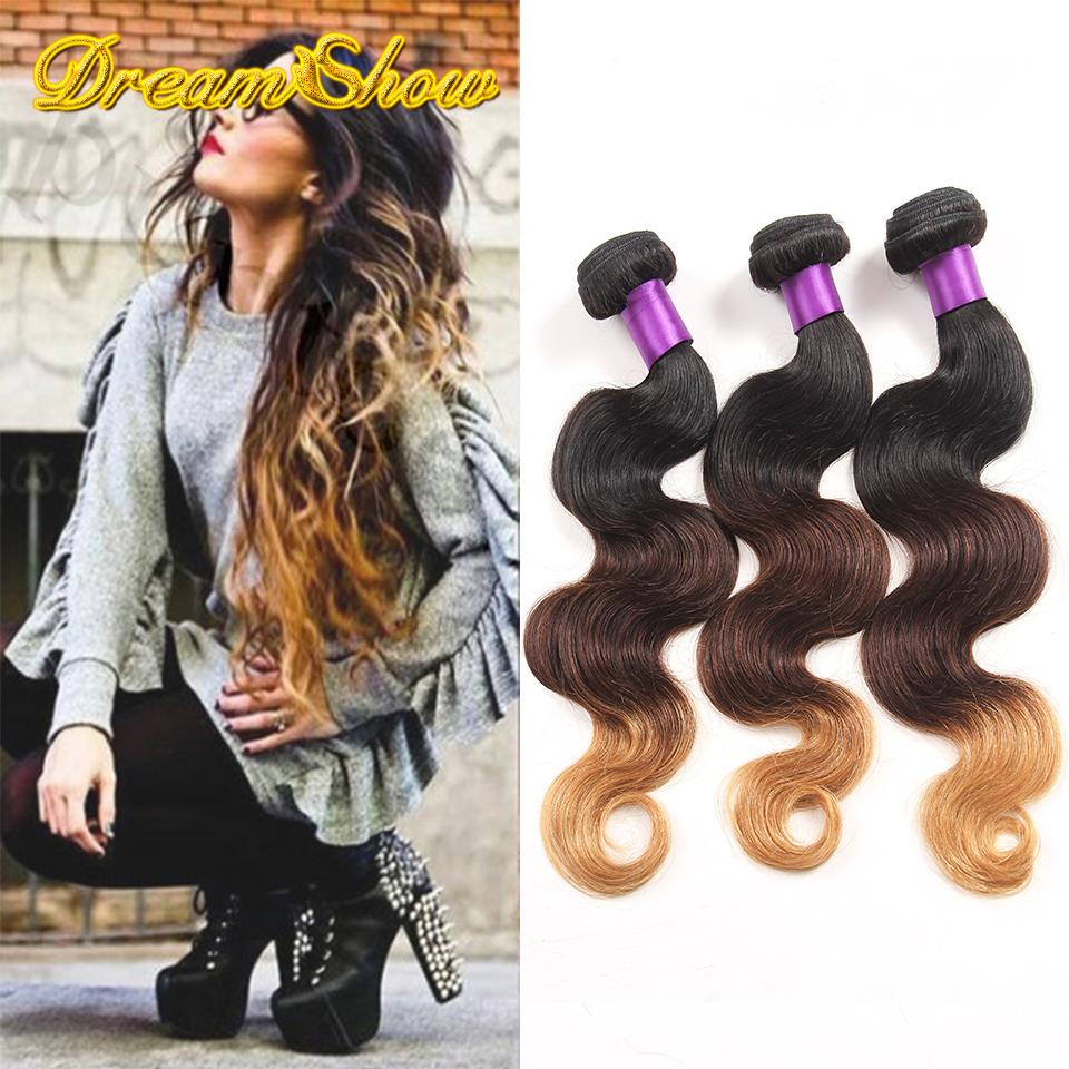 Brazilian 3 Tone Ombre Hair Extensions Cheap 7A Brazilian Virgin Hair Body Wave 3pcs Brazilian Human Hair Weave Bundles<br><br>Aliexpress