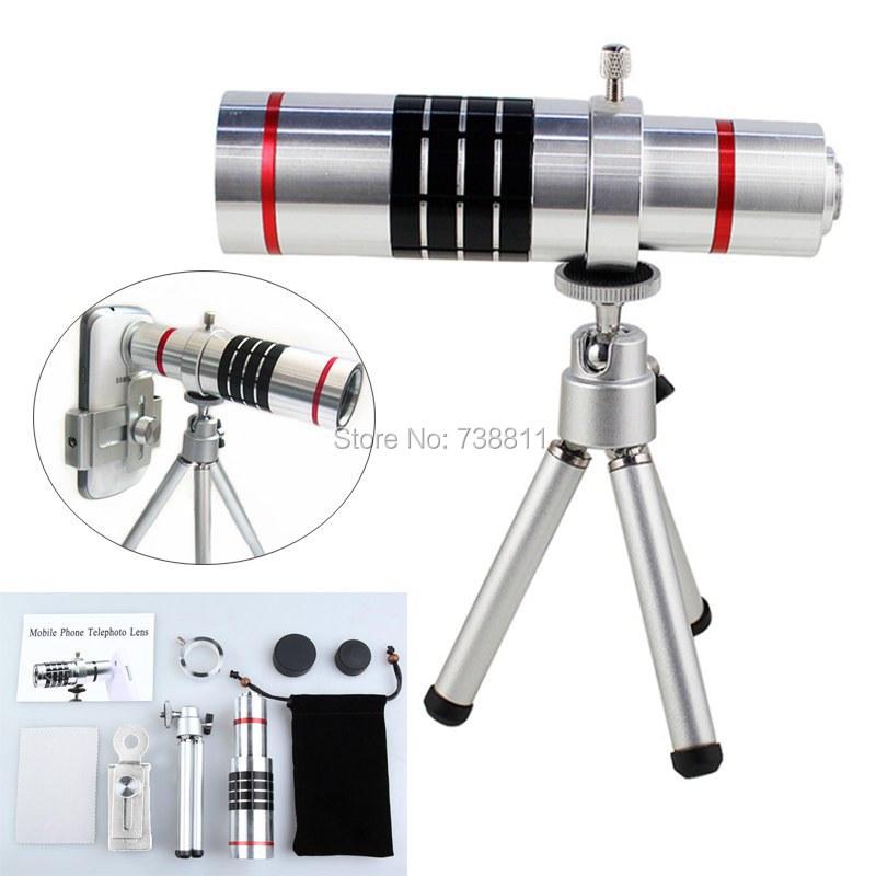 Hot Silver 18X Optical Telephoto Zoom Tripod Camera Photo Smartphone Lens For Samsung S6 Edge PLUS S7/S6 S5 S4 S3 S2 MINI A5 A7(China (Mainland))