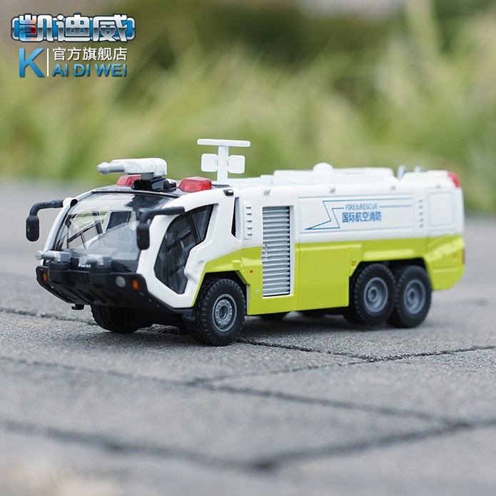 1 : 50 alloy Fire truck Pull Back Model Car Toys With Sound And Light Metal Diecast Truck Kids Boys Brinquedos Scale Models Gift(China (Mainland))