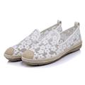 Elegant Loafers Shoes Women Slipony Casual Lace Flowers Round toe Shoes Woman Fashion Flat Platform Heel