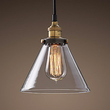 Loft Style Industrial Edison Vintaget Pendant Light Lamp In Glass Shade Free Shipping