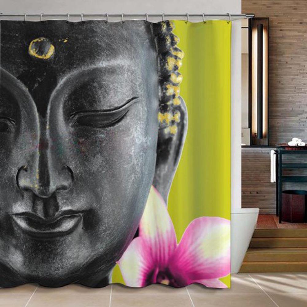 Online kopen Wholesale Boeddha gordijnen stof uit China Boeddha ...
