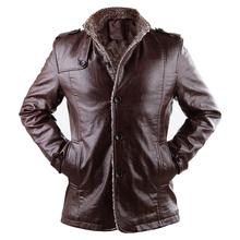 2015 New Brand PU Leather Jacket Men Winter Jackets and Coats Thickening Wool Windbreak Warm Jaquetas De Couro Coat Plus Size3XL(China (Mainland))