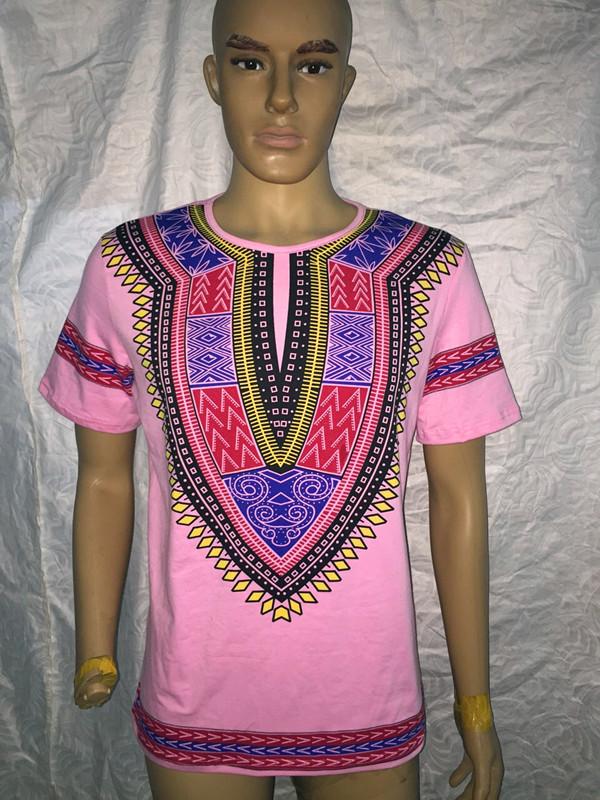 African Print T Shirts Printed dashiki flower t shirt