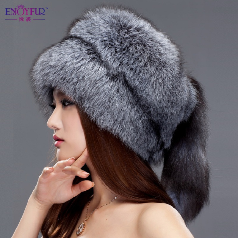2015 Free shipping winter fur hat real fox fur hat lei feng leather hat mink skin millinery fashion cap bomber warm snow cap(China (Mainland))