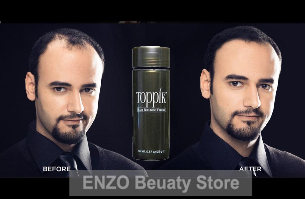 Toppik Hair Building Fibers Men Women Natural Keratin Thinning Hair Solutions 25g Black Dark/Medium Brown, Full Hair Instantly(China (Mainland))