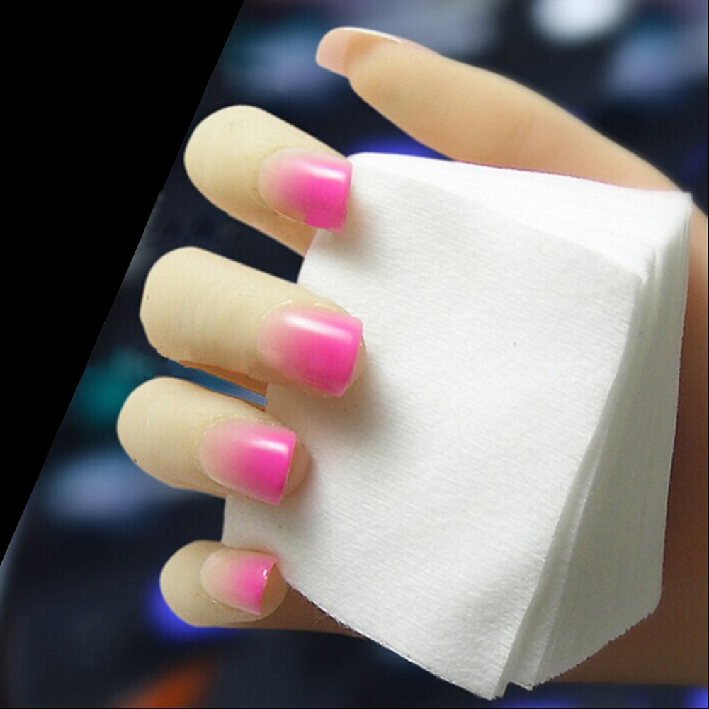 1800pcs 2 Bags Acrylic UV Gel Tips Soft Makeup Cotton Nail Polish Remover Cleaner Makeup Wipes Pads Absorbent Sanitary Cotton(China (Mainland))