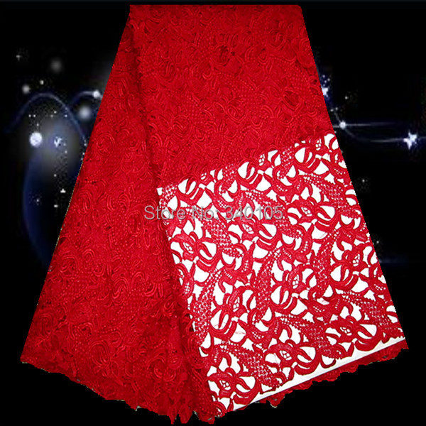 Здесь можно купить  PS55-1!free shipping guaranteed quality African water soluble lace fabric in red,top sale embroidery guipure lace for dress!  Дом и Сад
