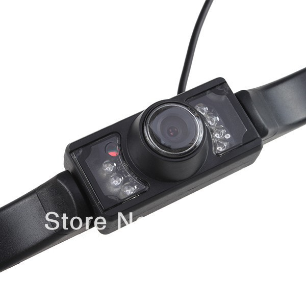 2013 New Wired License plate frame Rear View Camera Night vision Waterproof Car Rear camera free shipping(China (Mainland))