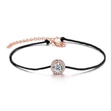 ERLUER מיקי שרשרת & קישור צמידים לנשים מתנות אופנה קלאסי ידידות קסם עלה זהב מסיבת חתונת צמיד תכשיטים(China)