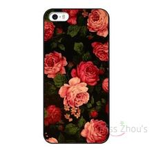 For iphone 4/4s 5/5s 5c SE 6/6s 7 plus ipod touch 4/5/6 back skins mobile cellphone cases cover Art Flowers Plastic Protective