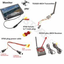 RC FPV Система Комбо 5.8 ГГц 5.8 г 600 МВт ts5828 Мини Передатчик RC832 Приемник Plus Монитор для SJ4000 F450 QAV250 Гонки drone